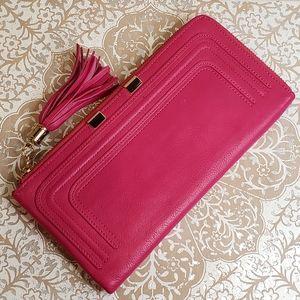 Danier genuine leather long wallet